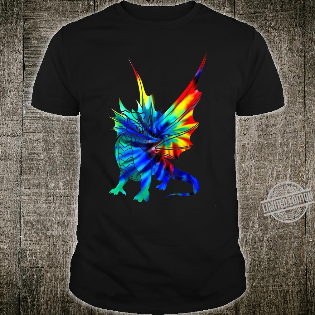 Tie Dye Dragon Cute Brushed Firedrake Shirt