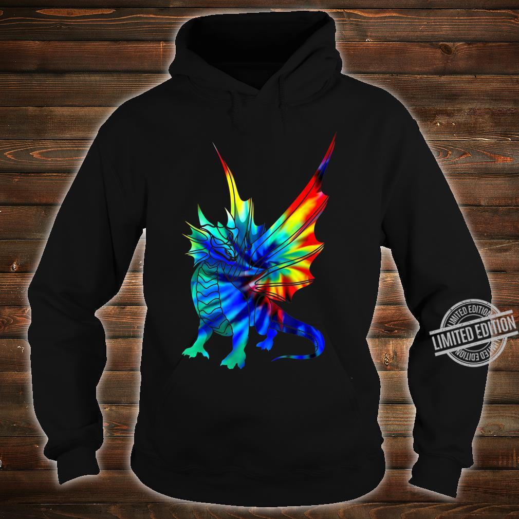 Tie Dye Dragon Cute Brushed Firedrake Shirt hoodie