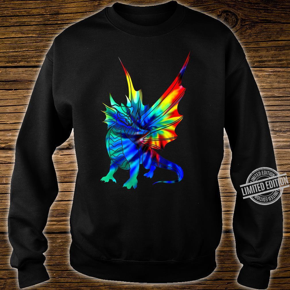 Tie Dye Dragon Cute Brushed Firedrake Shirt sweater