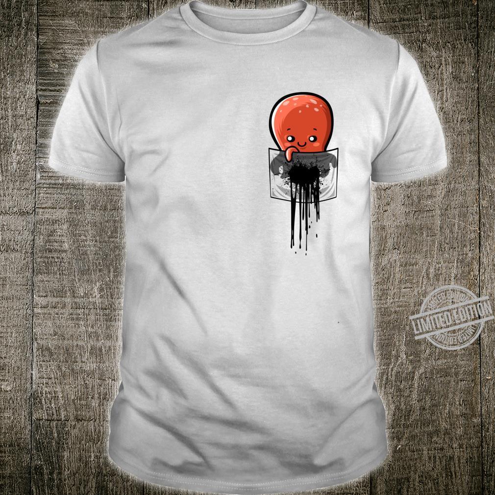 Tinte befleckte Tasche von einem Tintenfisch Langarmshirt Shirt