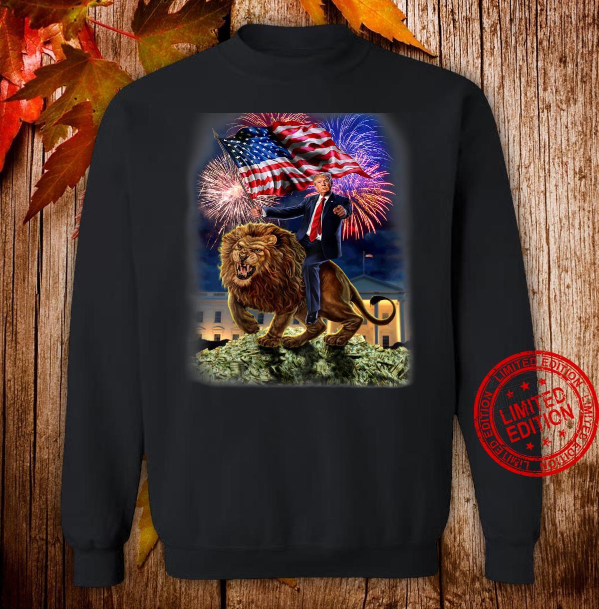USPräsident Donald Trump reitet einen wilden Löwen Shirt sweater