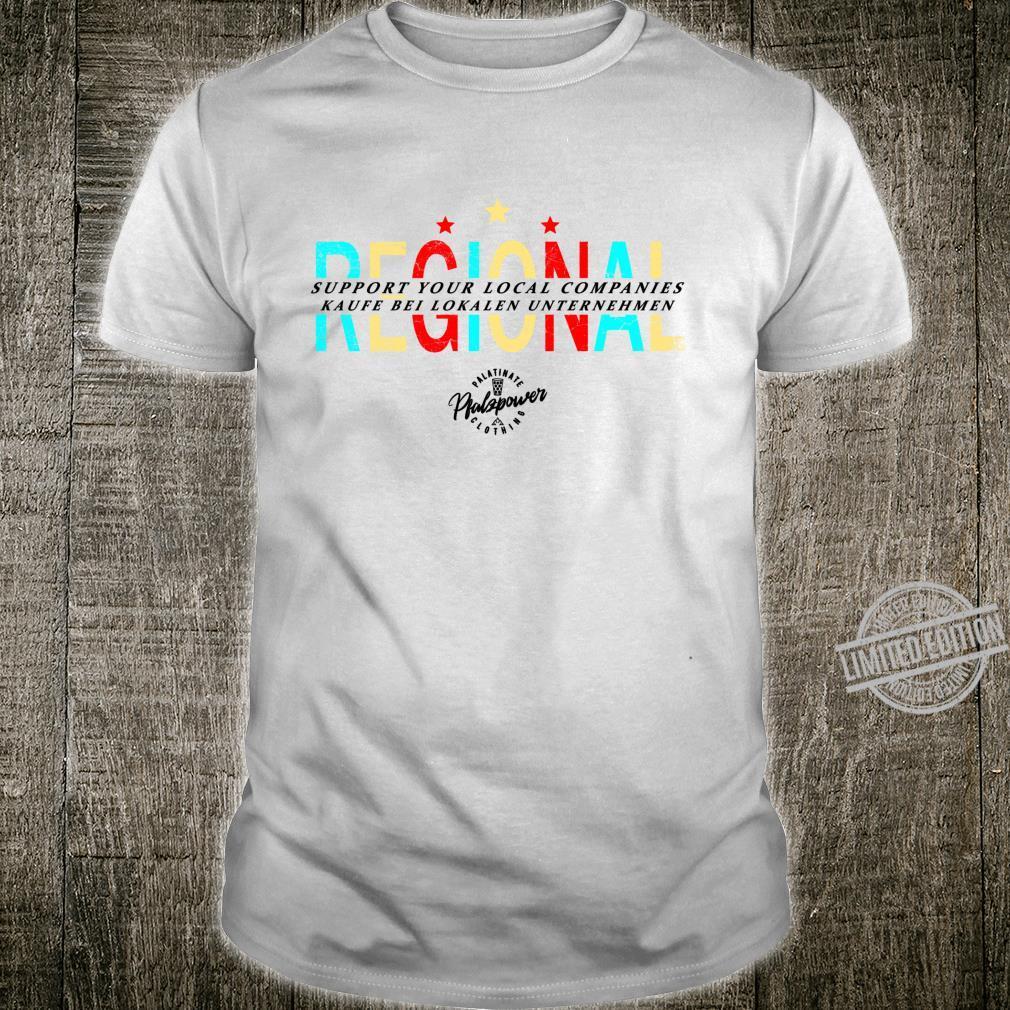 Unterstützt lokale Unternehmen Regionale Betriebe Langarmshirt Shirt