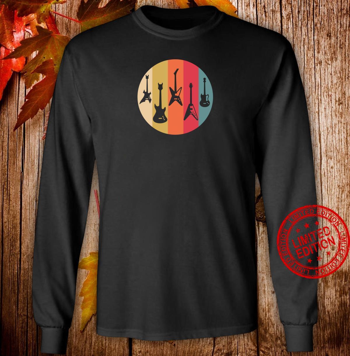 Vintage Musician Electric Guitars Shirt long sleeved