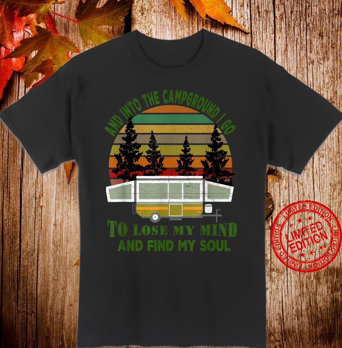 Vintage Pop Up Camper Camping & Hiking Fishing Hunting Shirt