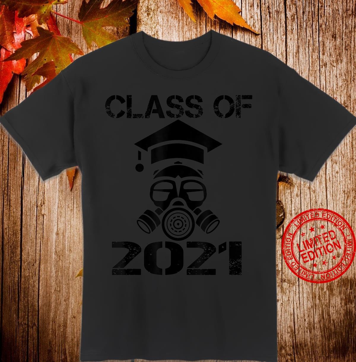Vintage Senior 2021 Face Mask Quarantined Class of 2021 Shirt