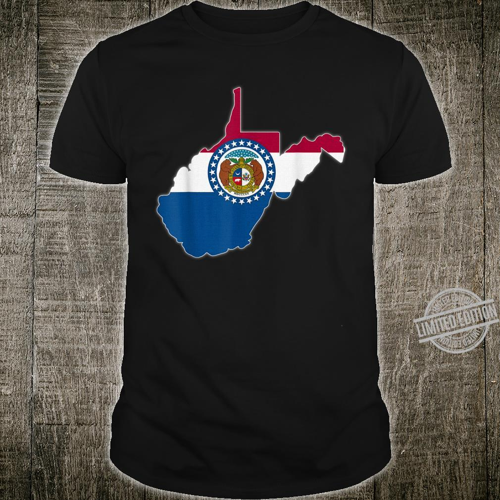 WEST VIRGINIA STATE MAP MISSOURI MO Flag Roots Shirt