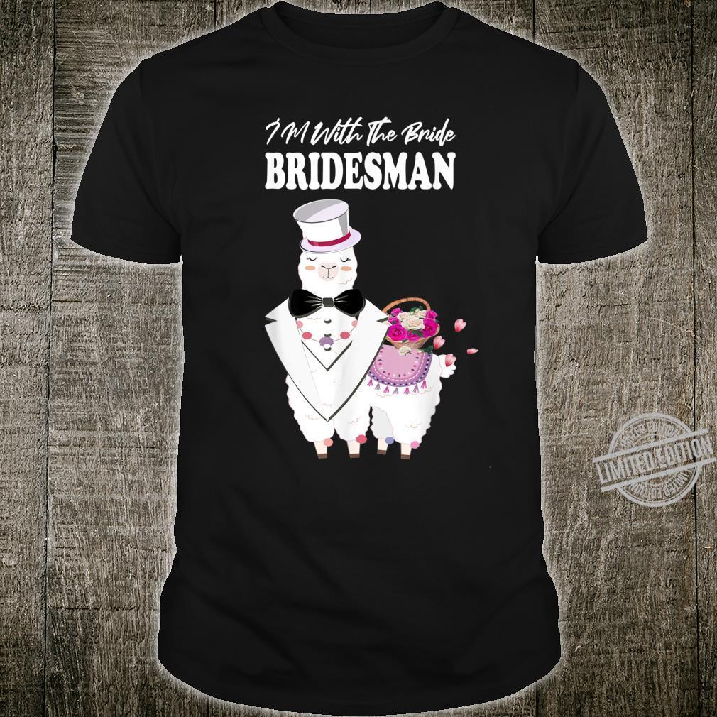 Wedding Bridal Party For Llama Bridesman Shirt