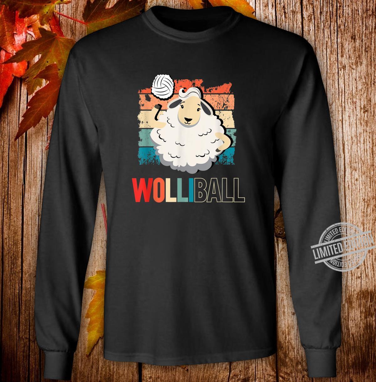 Wolliball Yolleyball Schaf Retro Spruch Motiv Shirt long sleeved