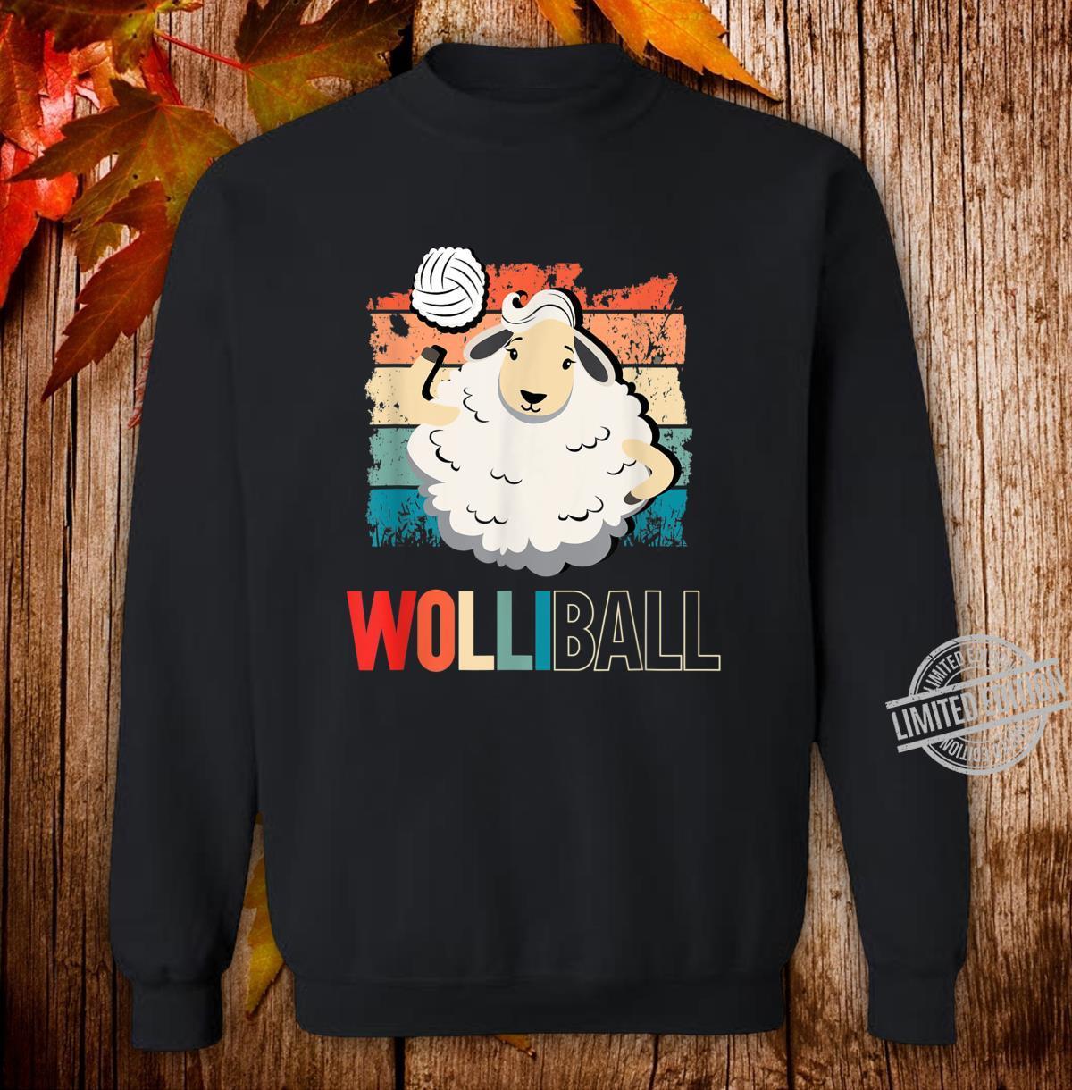 Wolliball Yolleyball Schaf Retro Spruch Motiv Shirt sweater