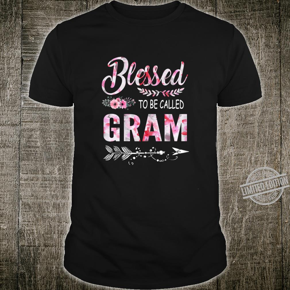 Womens Blessed To Be Called Gram Shirt Cute Floral Mother's Day Shirt
