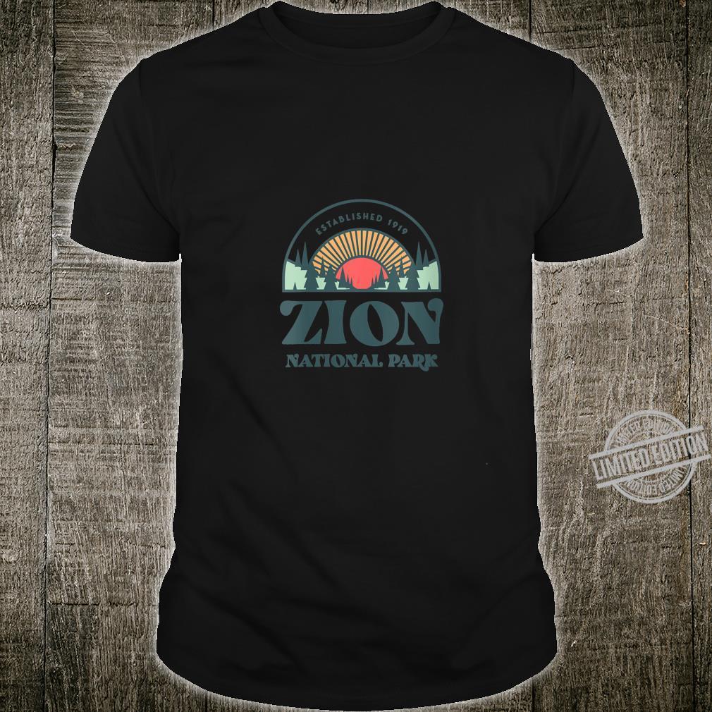 Womens Family Vacation Shirt Retro Zion National Park Shirt