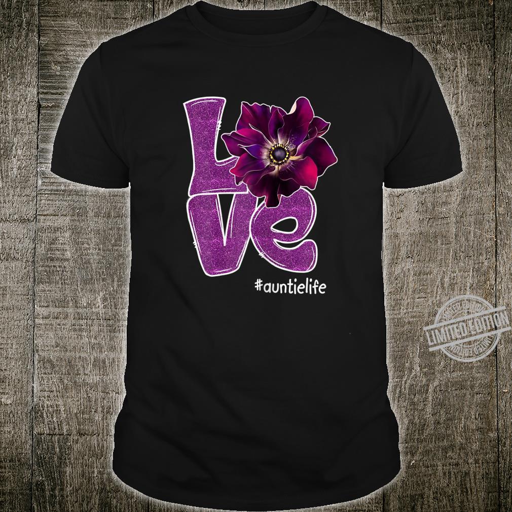 Womens Grandma LOVE Auntie Anomone Flower for Grandma Shirt