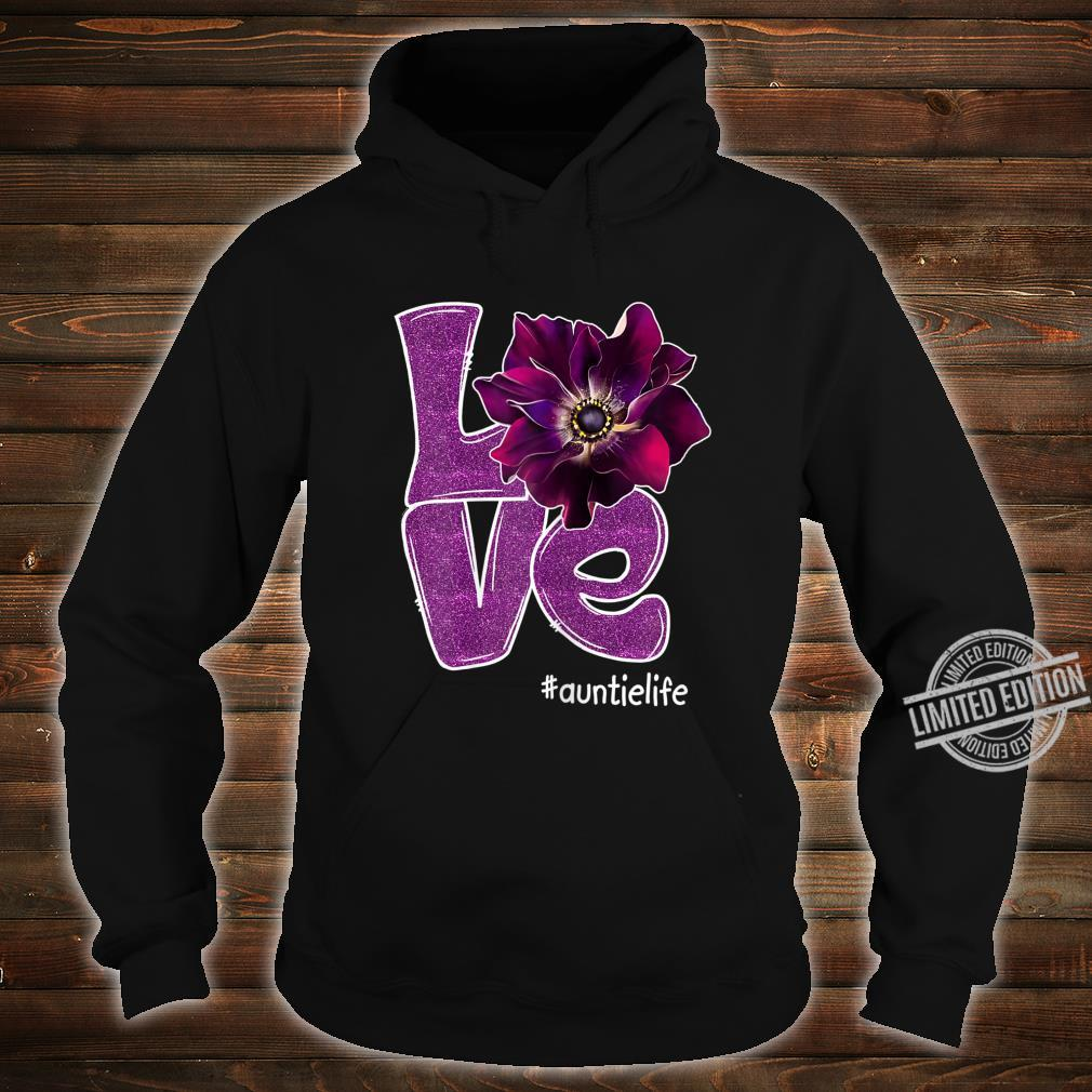 Womens Grandma LOVE Auntie Anomone Flower for Grandma Shirt hoodie