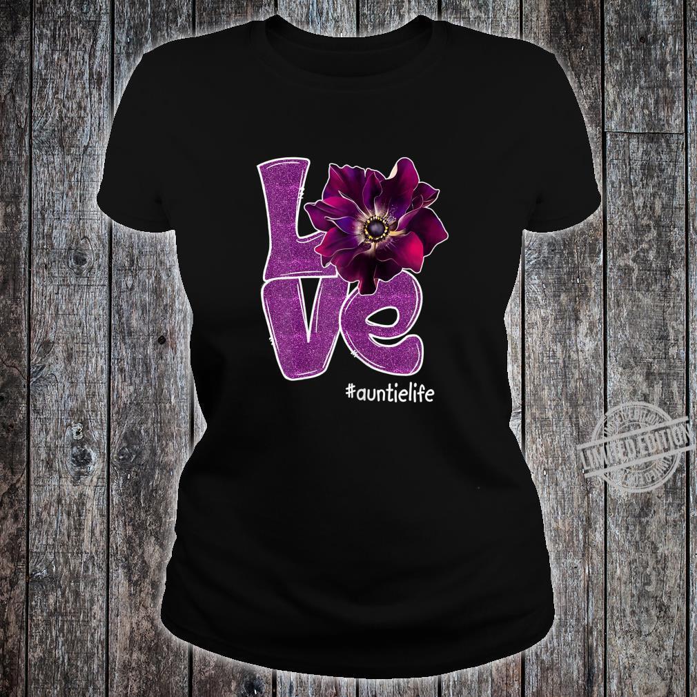 Womens Grandma LOVE Auntie Anomone Flower for Grandma Shirt ladies tee