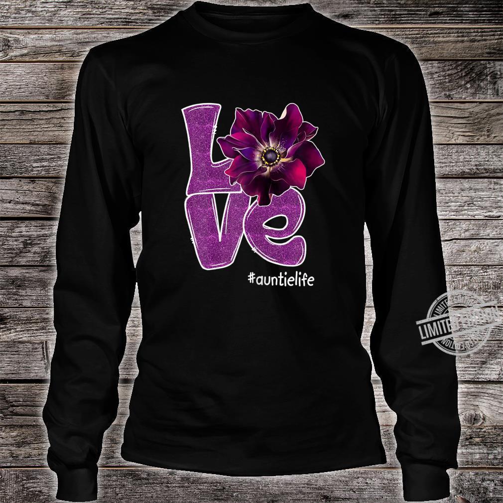 Womens Grandma LOVE Auntie Anomone Flower for Grandma Shirt long sleeved