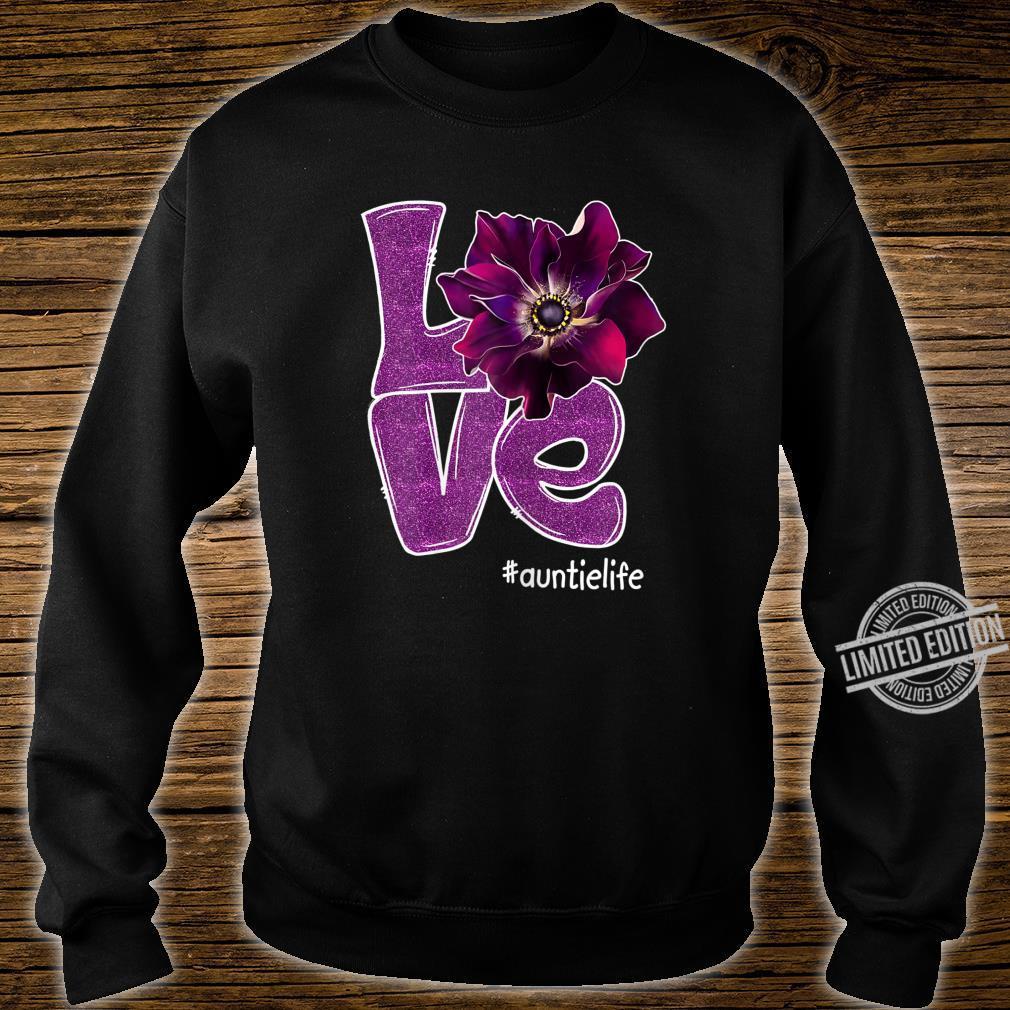 Womens Grandma LOVE Auntie Anomone Flower for Grandma Shirt sweater