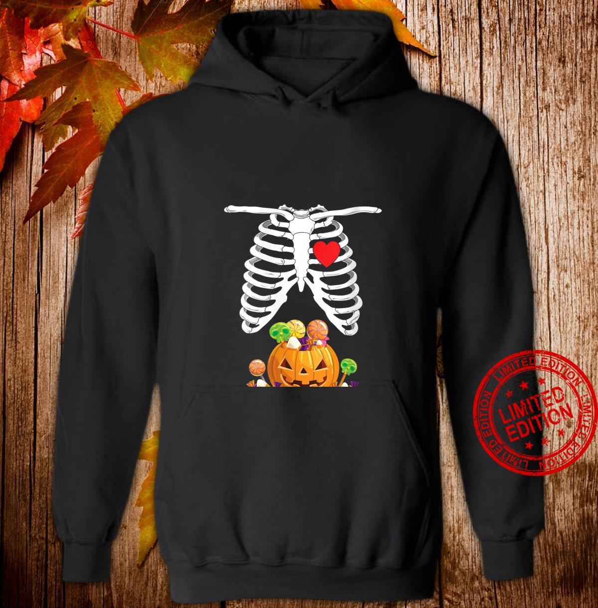 Womens Halloween Pregnancy Shirt Mom To Be Skeleton Shirt hoodie