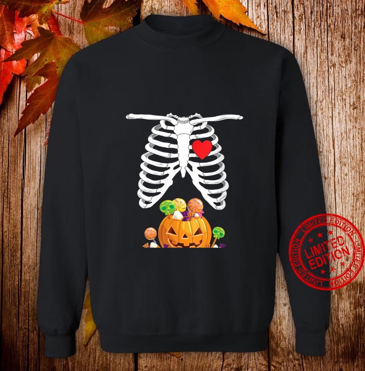 Womens Halloween Pregnancy Shirt Mom To Be Skeleton Shirt sweater