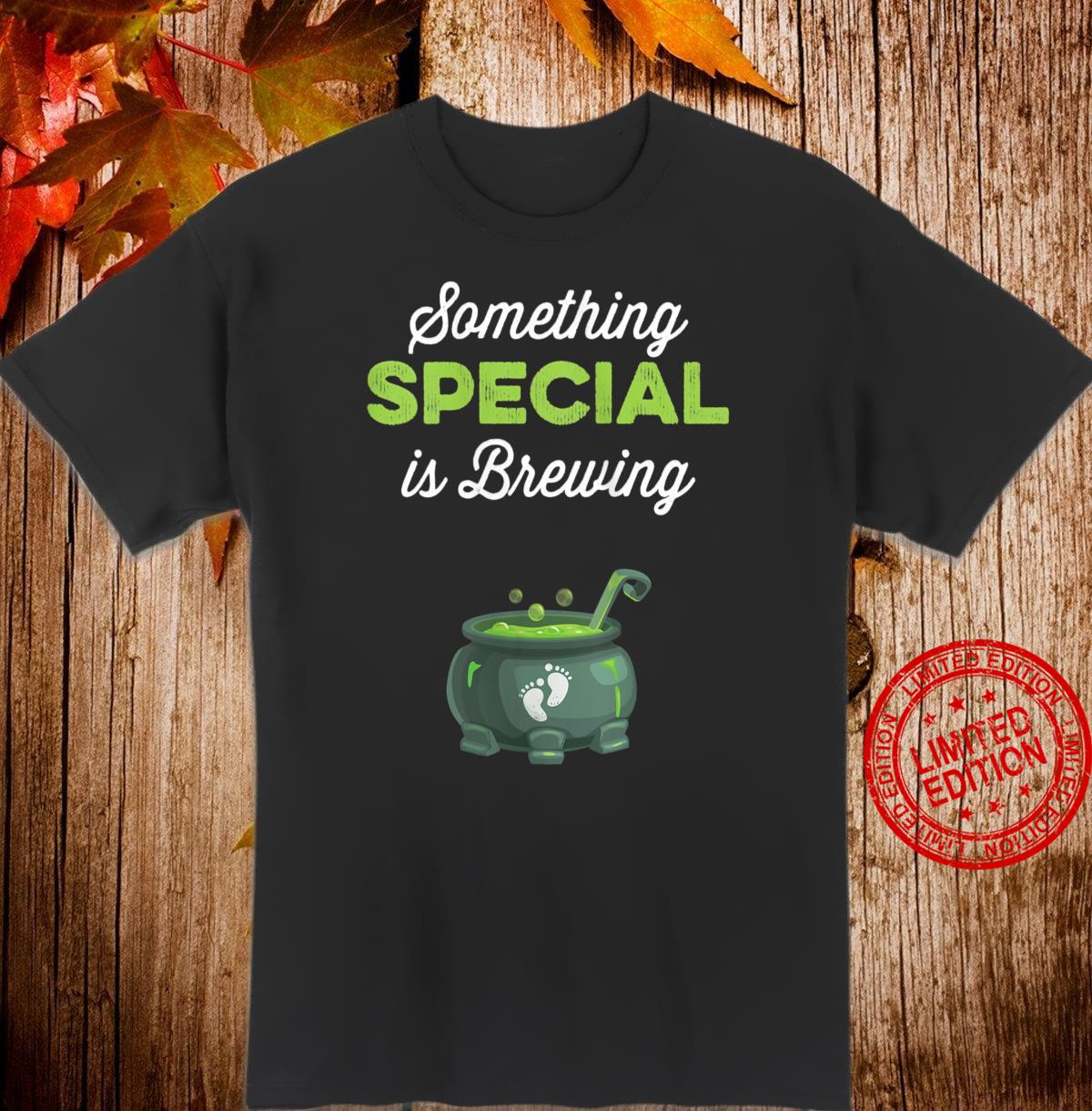 Womens Halloween Pregnancy Shirt Mom To Be Something Is Brewing Shirt