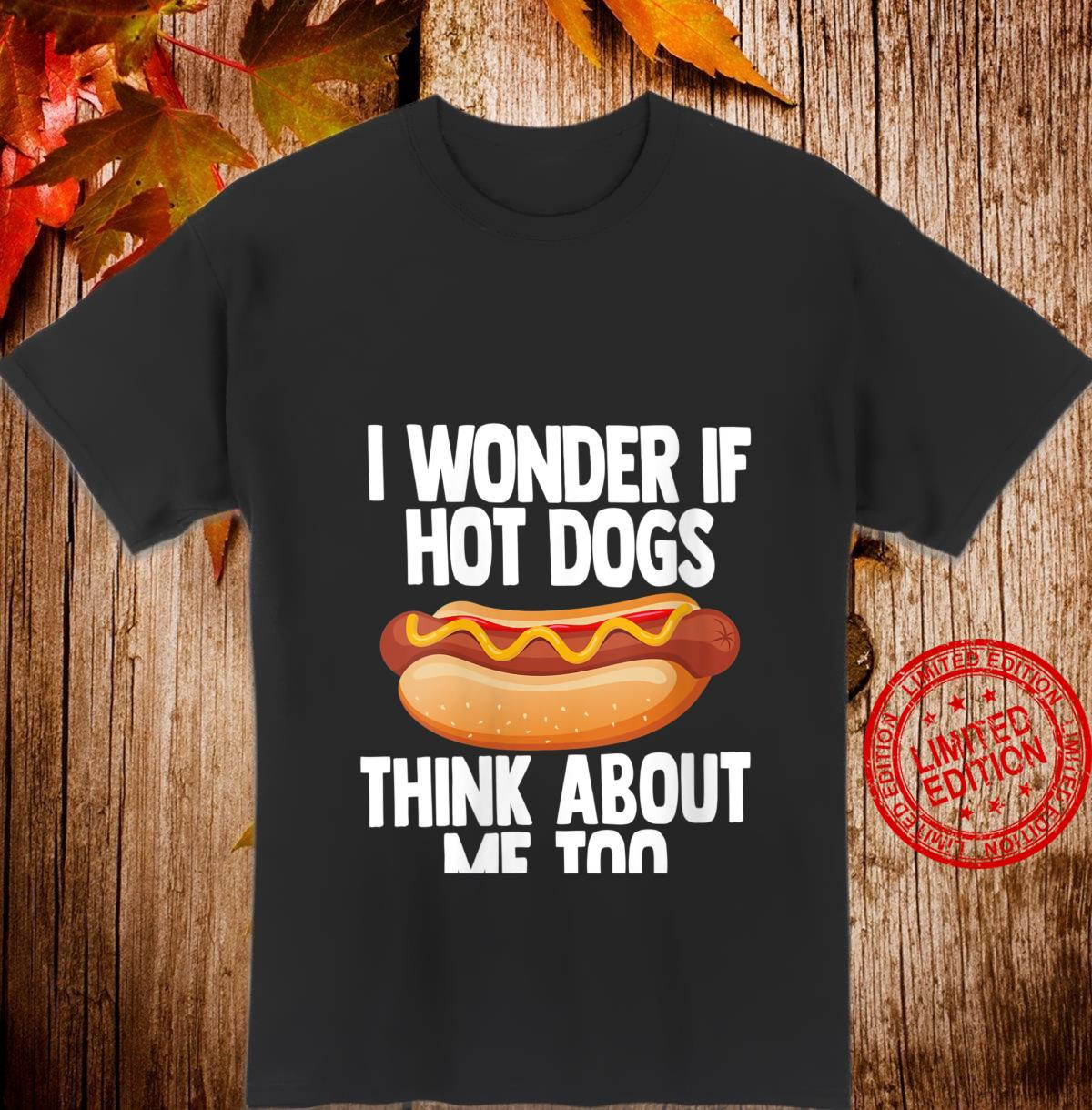 Womens Hot Dog Joke Grill and Cookout Food Shirt