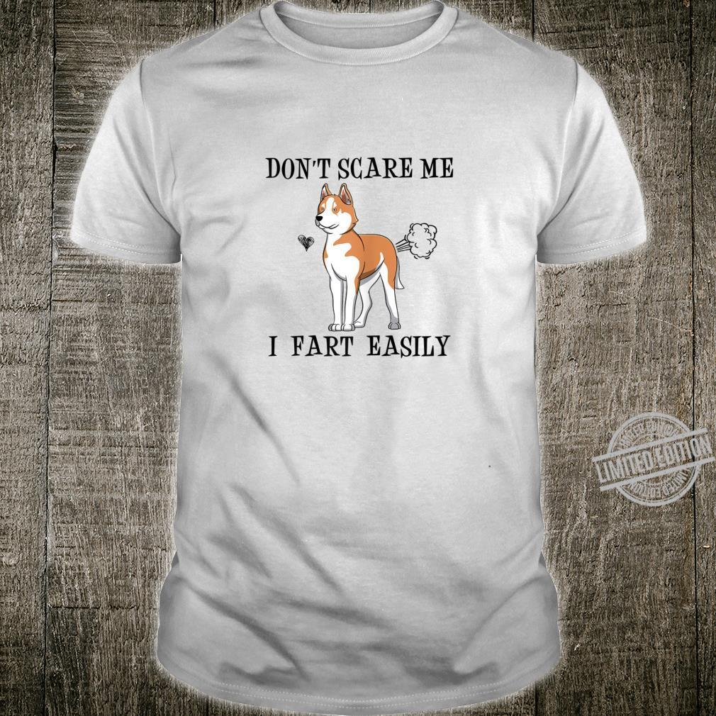 Womens Red Husky Mom Don't Scare Me I Fart Easily Shirt