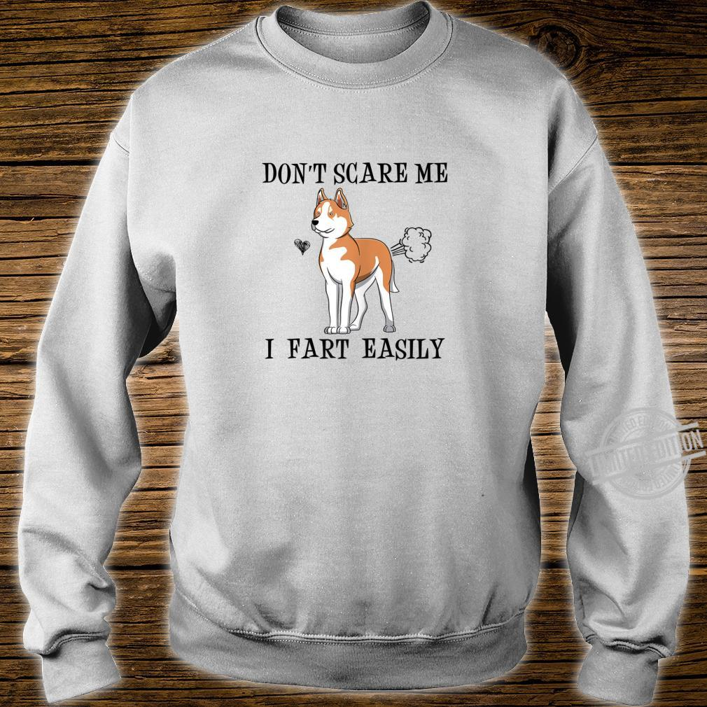 Womens Red Husky Mom Don't Scare Me I Fart Easily Shirt sweater