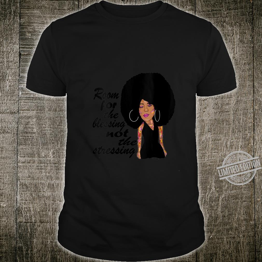 Womens Room For The Blessing, African American Black Afro Hair Shirt