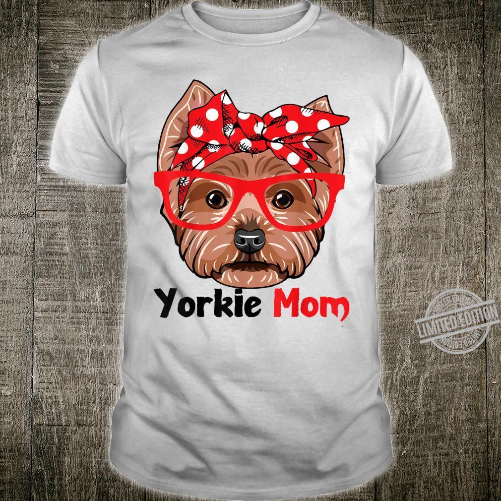 Yorkie Dog Mom With Bandana Cute Dog For Mother Shirt